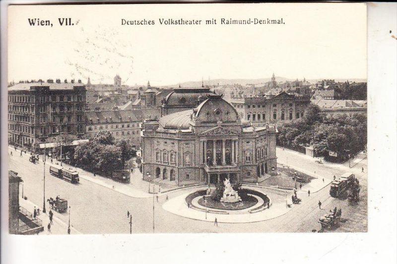 A 1000 Wien, 6.Gemeindebezirk, Deutsches Volkstheater & Raimund Denkmal, Brüder Kohn Wien