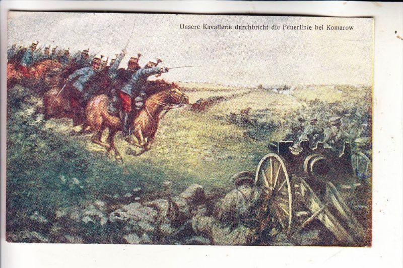 PL 22-600 TOMASZOW / KOMAROW, Schlacht bei Komarow, Künstler Karte, Österr. Zensur