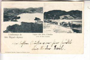 P 95040 PONTA DELGADA / Acores, Lembranca de Sao Miguel / Lagao des Sete Cidades, 1904