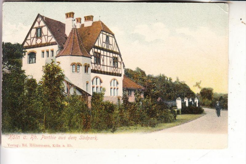 5000 KÖLN - MARIENBURG, Partie im Südpark, ca. 1905 ungeteilte Rückseite, kl. Druckstelle