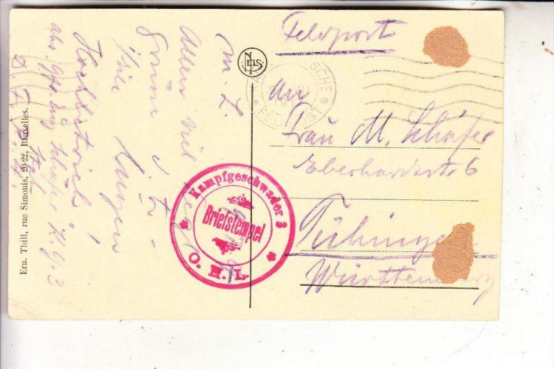 MILITÄR - 1.Weltkrieg, KAMPFGESCHWADER 3 O.H.L.,9.VII. 1917, AK nach Tübingen, kl. Klebereste