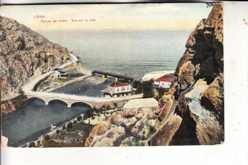 LIBANON - BEYROUTH, Fleuve du chien, 1922, kl. Randmängel