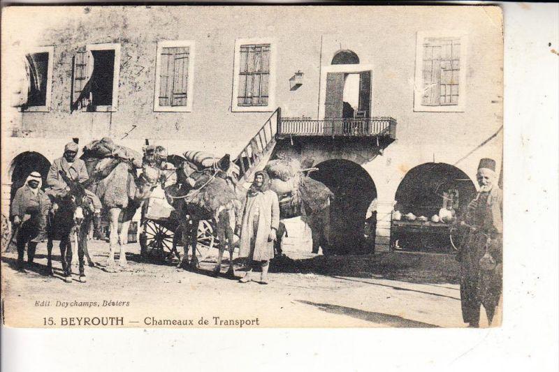LIBANON - BEYROUTH, Chameux de Transport