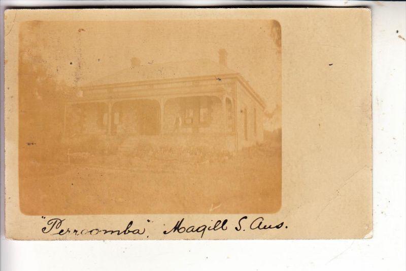 AUSTRALIA / AUSTRALIEN, ADELAIDE - S.A., MAGILL, Perrcomba, Photo-postcard, 1908
