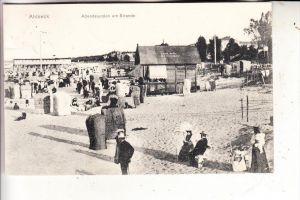 0-2252 HERINGSDORF - SEEBAD AHLBECK, Abendstunden am Strande, 1907