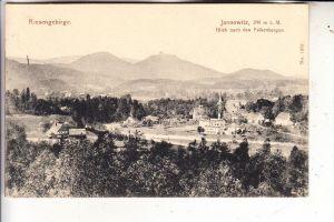 NIEDERSCHLESIEN - JANNOWITZ / JANOWICE WIELKIE, Blick nach den Falkenbergen, 1917