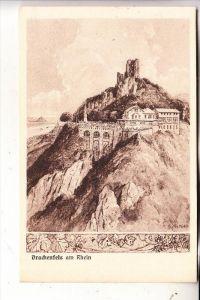 5330 KÖNIGSWINTER, Drachenfels, Künstler-Karte Gg. Röder
