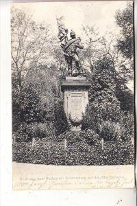 4000 DÜSSELDORF - GRAFENBERG, 39er Denkmal bei der Rolandsburg, 1907