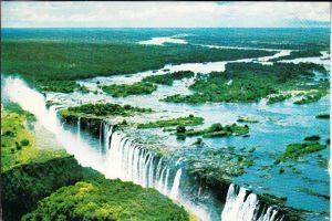 SAMBIA / RHODESIEN, Victoria Falls, 6 postcards