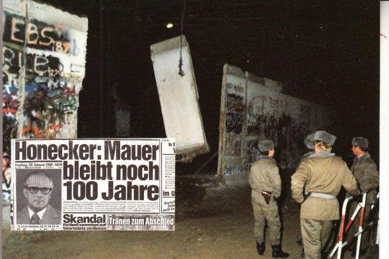 1000 BERLIN, Berliner Mauer, DDR-Propaganda