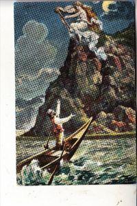 5423 LORELEY, Künstler-Karte Loreley mit Harfe