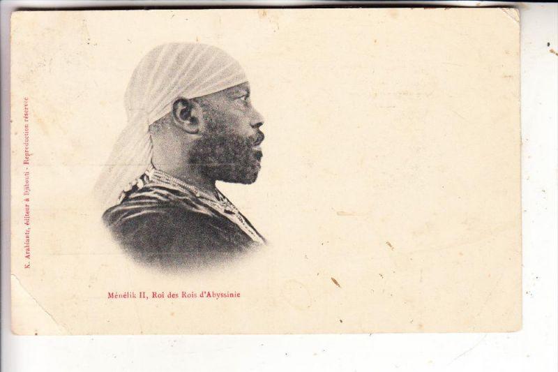 ETHIOPIA / ÄTHIOPIEN / Abyssinie, Menelik II, Roi des Rois d'Abyssinie, 1907