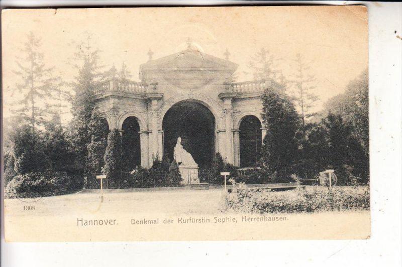 3000 HANNOVER - HERRENHAUSEN, Denkmal der Kurfürstin Sophie, 1906
