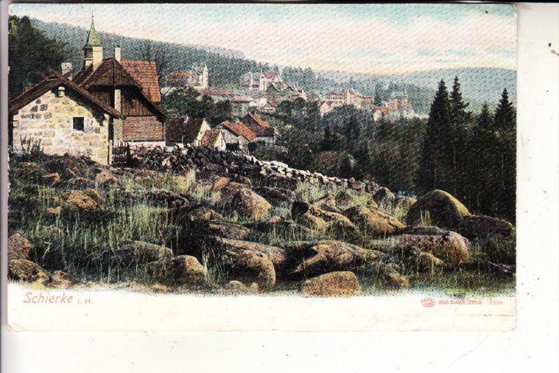 0-3700 WERNIGERODE - SCHIERKE, Dorfansicht, 1904