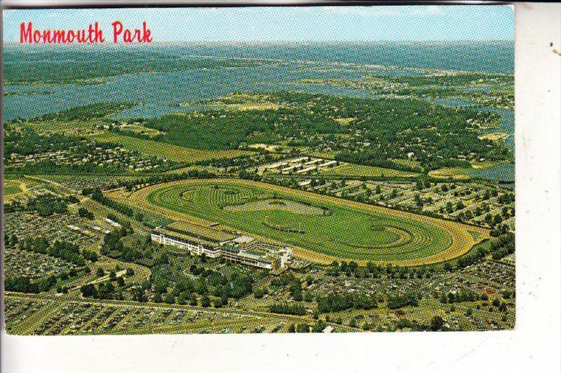 SPORT - PFERDE - Pferderennbahn Monmouth Park, Oceanport N.J. air shot, Turf