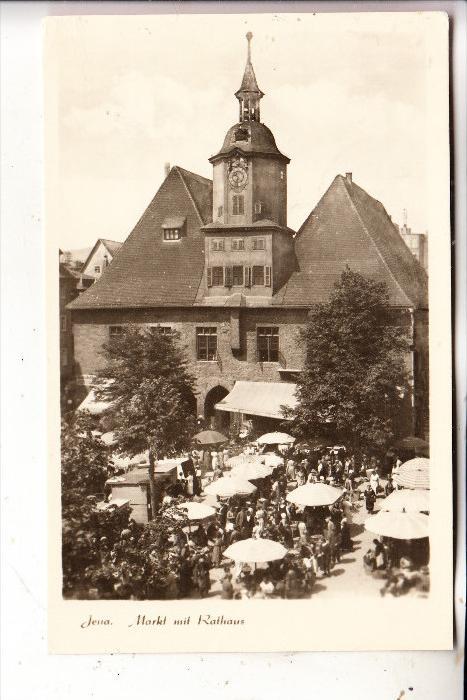 0-6900 JENA, Markt mit Rathaus, 1956