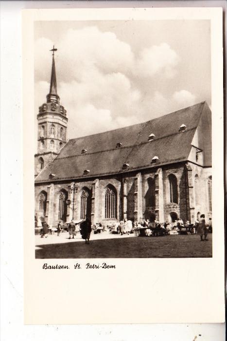 0-8600 BAUTZEN, St. Petri-Dom, Markt, 1954