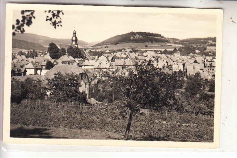 0-6405 SCHALKAU, Ortsansicht mit Galgenberg, 1958