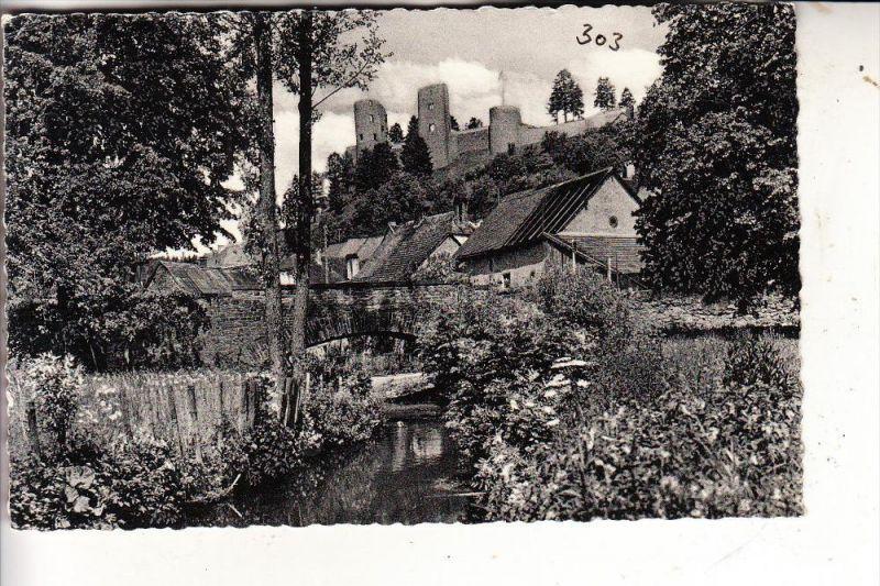 5540 PRÜM - SCHÖNECKEN, Blick auf die Burg, 1959