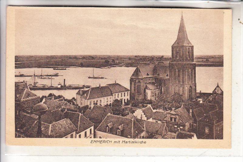 4240 EMMERICH, Ortsansicht mit Martinikirche