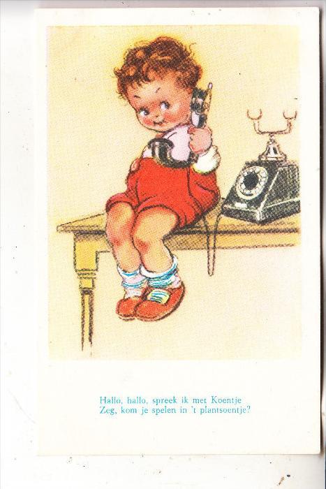 KINDER / Children / Enfants / Bambini / Ninos / Kinderen - Junge mit Telefon