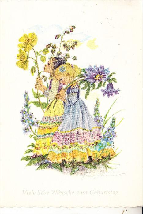 KINDER / Children / Enfants / Bambini / Ninos / Kinderen - Kinder mit Blumen