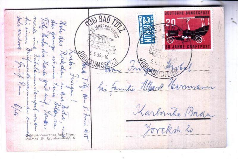 BUND - 1955, Michel 211, 50 Jahre Kraftpost, Sonderstempel Bad Tölz