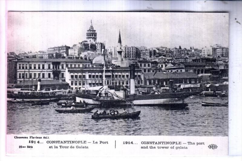 TR 34... ISTANBUL / Constantinople, Hafen, 1914