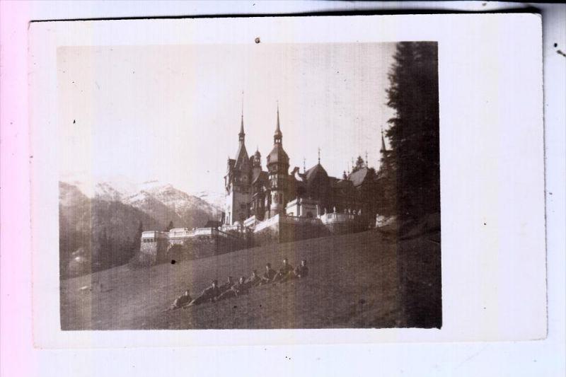 ROMANIA / RUMÄNIEN - SINAIA, Königl. Schloß 1918, Photo-AK