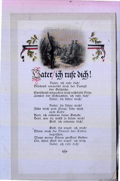MILITÄR - 1.Weltkrieg, Lieder-Karte