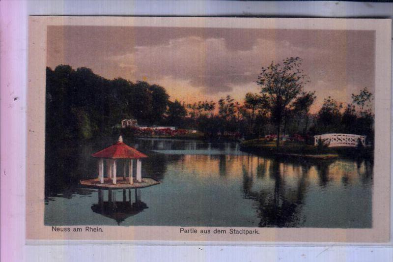 4040 NEUSS, Partie im Stadtpark, 1922