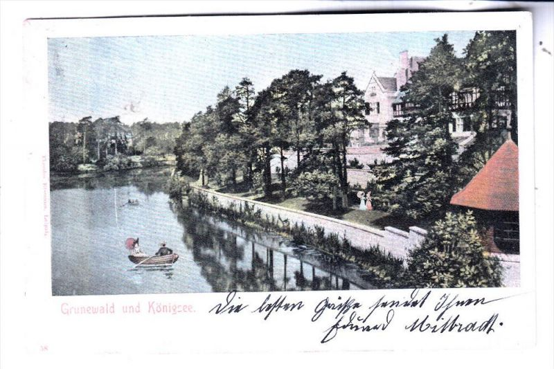 1000 BERLIN - GRUNEWALD, Königsee, 1903