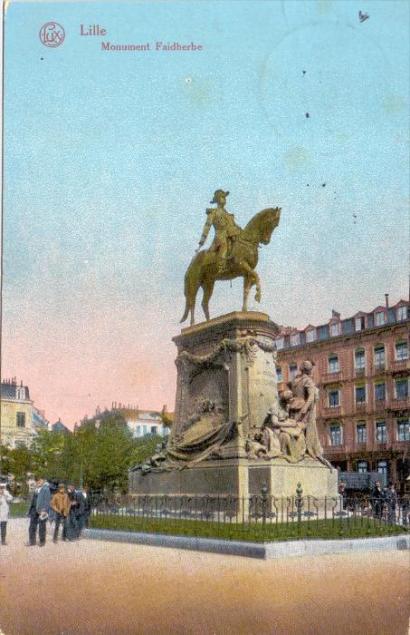 F 59000 LILLE, Monument Faidherbe, 1916, deutsche Feldpost