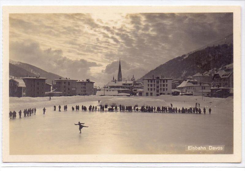 CH 7260 DAVOS, Eisbahn, Schlittschuhlaufen