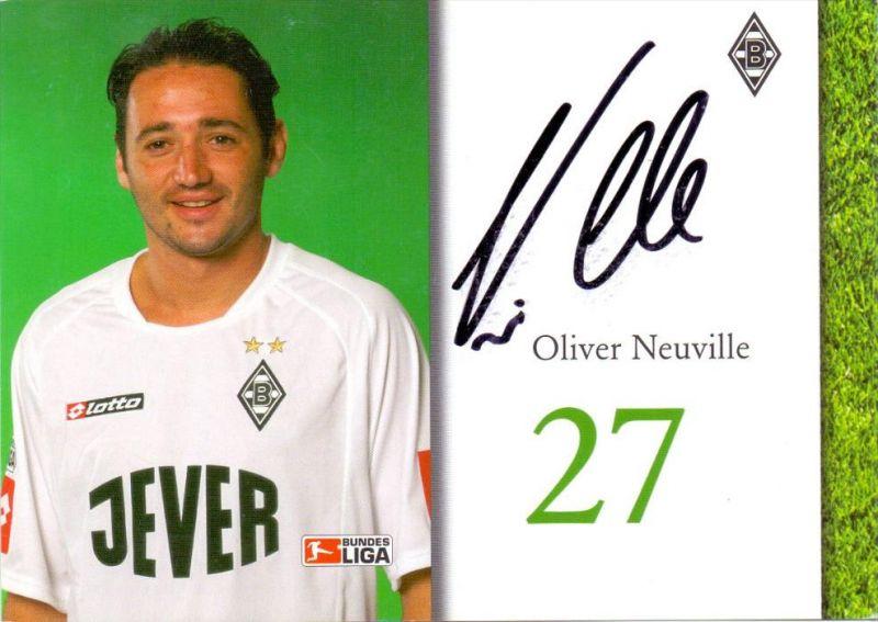 SPORT - FUSSBALL - BORUSSIA MÖNCHENGLADBACH - OLIVER NEVILLE, Autogramm