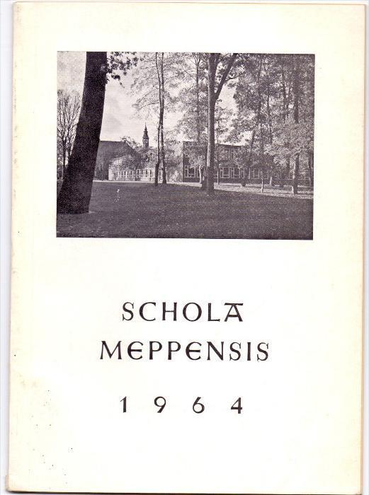 4470 MEPPEN, Gymnasium Meppen, Jahresbericht 1964, 31 Seiten, gute Erhaltung