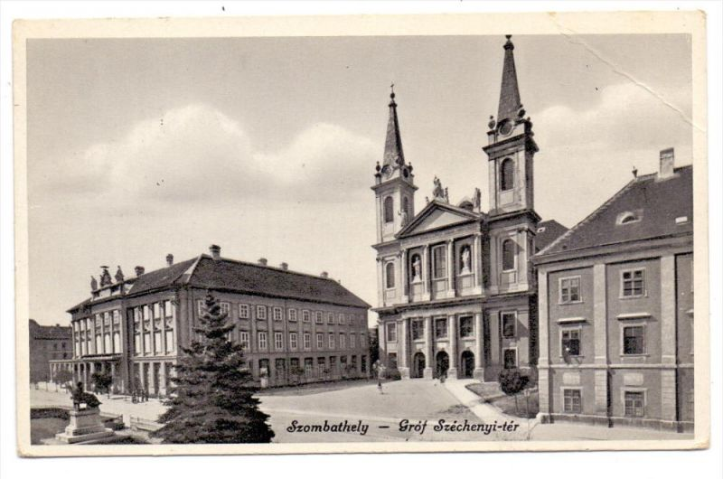 H 9700 SZOMBATHELY, Graf Szechenyi-ter, 1934, Druckstelle
