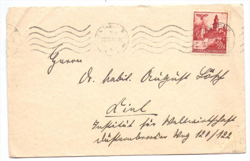 GENERALGOUVERNEMENT - 1940, Michel 45, Einzelfrankatur