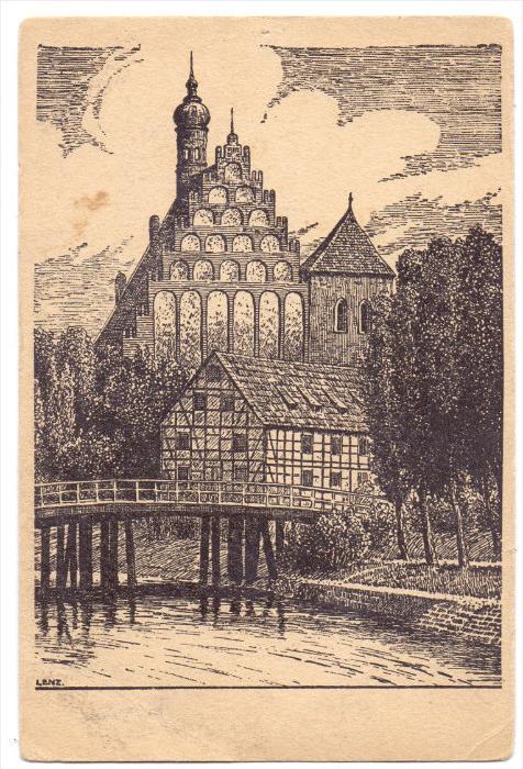 WESTPREUSSEN - BROMBERG / BYDGOSZCZ, Alte Kirche, Künstler-Karte, kl. Druckstelle