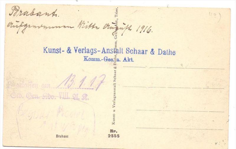 MILITÄR - 1.Weltkrieg, Brabant 1916, Archiv Beleg Schaar & Dathe, Trier