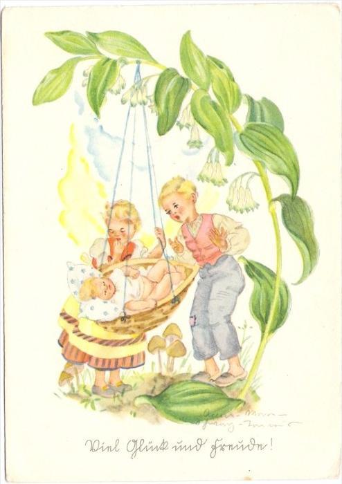 KINDER / Children / Enfants / Bambini / Ninos / Kinderen - Künstler-Karte Anna-Maria Schwarz-Torinus