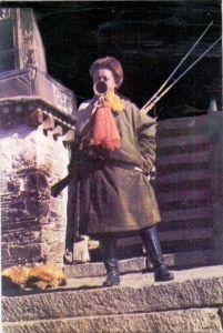 TIBET - Tibetian Resistance Force Bugler