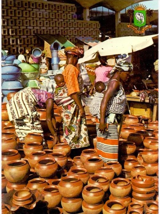 VÖLKERKUNDE / ETHNIC - Cote d´Ivore, Abidjan, Marche de Treicheville