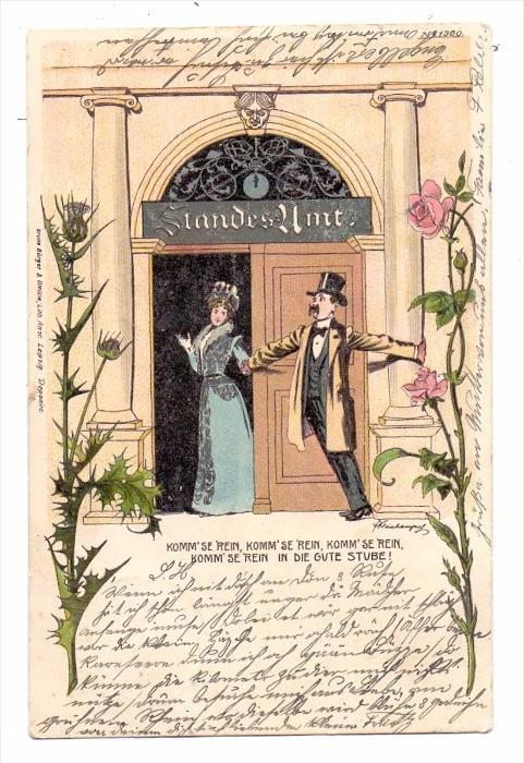 HOCHZEIT / Wedding / Mariage / Matrimonio - Humor, 1899, Bürger & Ottilie 0