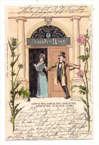 HOCHZEIT / Wedding / Mariage / Matrimonio - Humor, 1899, Bürger & Ottilie