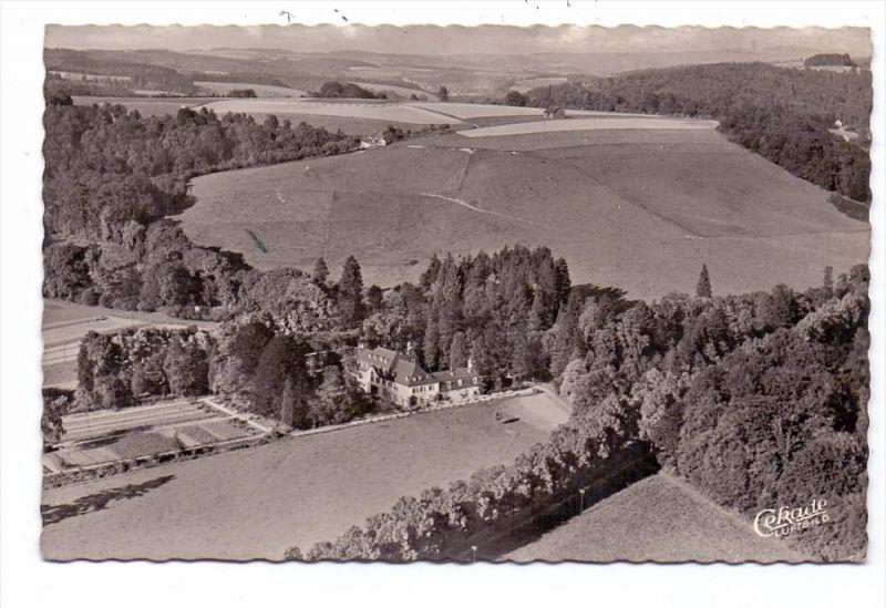 5204 LOHMAR - WAHLSCHEID, Schloss Auel, Luftaufnahme, 1953