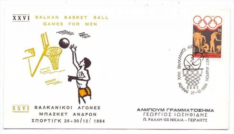 BASKETBALL - Balkan Basket Ball Games for Men, Athen 1984