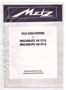 PHOTOGRAPHIE - METZ Mecablitz 45 CT-5 & 60 CT-2, Bedienungsanleitungen, gute Erhaltung, Einzelblätter