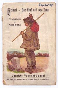 CLARA VIEBIG - HEIMAT - DAS KIND UND DAS VENN, 32 Seiten, Deutsche Jugendbücherei, Gebrauchsspuren