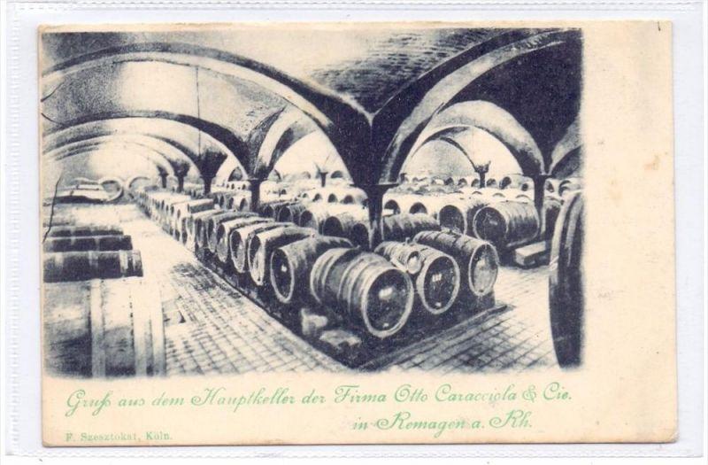 5480 REMAGEN, Hauptkeller Fa. Otto Caracciola, ca. 1900, ungeteilte Rückseite